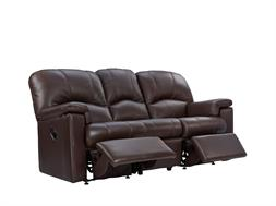 3 Seater Manual Double Recliner Sofa