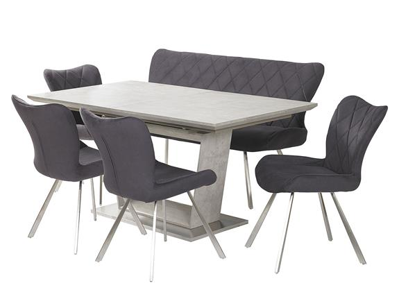 Extending Dining Table Love Bench And 4 Chairs