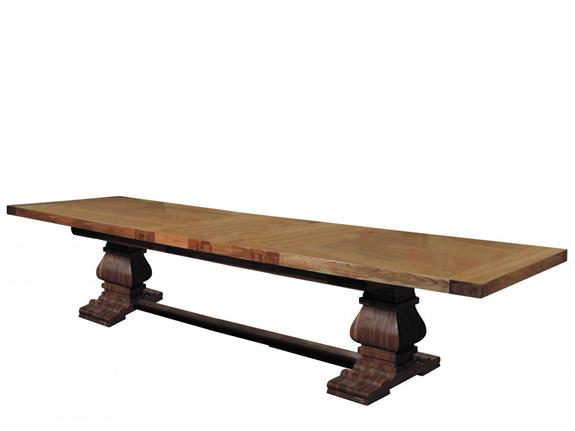 Chambery Extending Rustic Monastery Dining Table Buy At Christopher Pratts Leeds