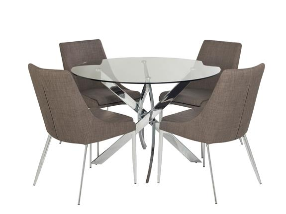 Round Dining Table 4 Jupiter Chairs