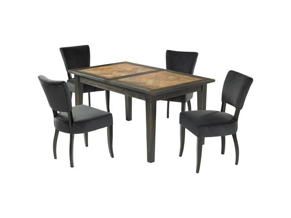 Buy Dining Furniture French Pastry Dining Table 4 Woodbridge Chairs