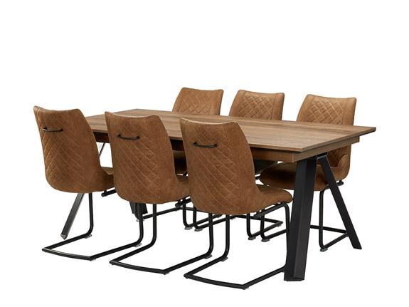 Dining Room Janella 190cm Extending Dining Table 6 Armin Chairs Buy At Christopher Pratts Leeds