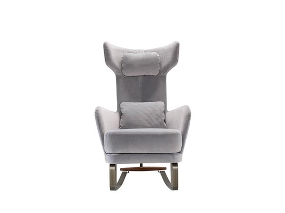 Armchair And Footstool Set With Rocking Base