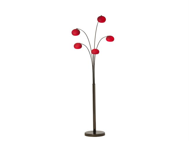 Opus Black Chrome | Red glass floor lamp | Buy at Christopher Pratts ...