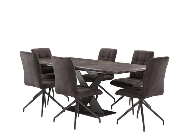 The Reno Dinng Collection Extending Dining Table 6 Vegas Chairs Buy At Christopher Pratts Leeds