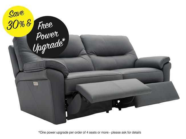 G Plan | Seattle Leather | 3 Seater Power Recliner Sofa ...