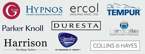 GPlan, Hypnos, Ercol, Tempur, Parker Knoll, Duresta, Himolla, Harrison, Stressless, Collins and Hayes Logos