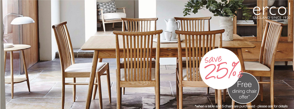 Free Chair Offer on the Ercol Teramo